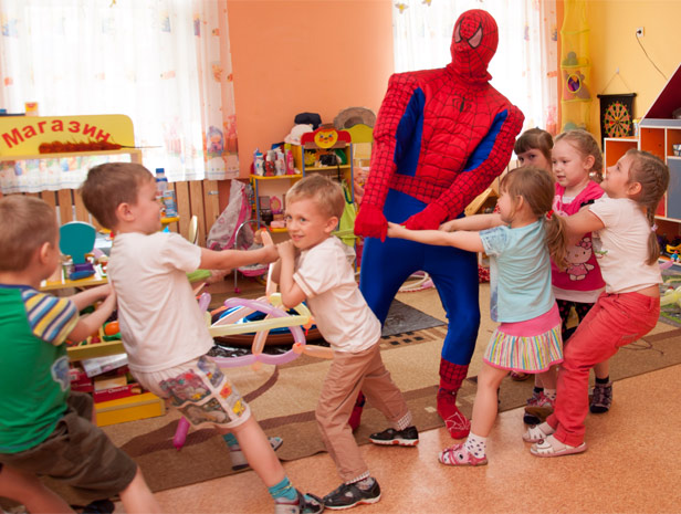Человек Паук на детский Праздник